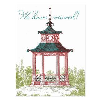 De Kaarten van de Adreswijziging van de pagode