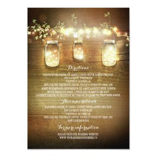De Kaarten van de Informatie van het Huwelijk van 11,4x15,9 Uitnodiging Kaart
