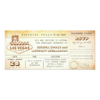 de kaartje-uitnodiging LAS VEGAS van het Kaart