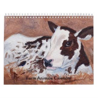 De Kalender van de Dieren van het boerderij