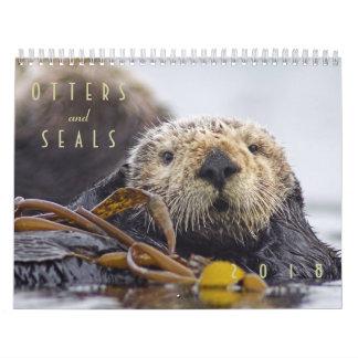 De Kalender van de Muur van de Otters en van de