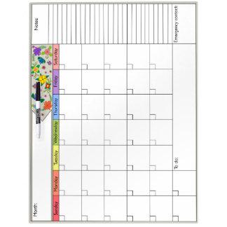 De Kalender van flower power 6W Whiteboard
