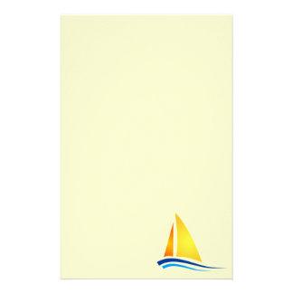 De Kantoorbehoeften van de Kunst van de zeilboot Briefpapier