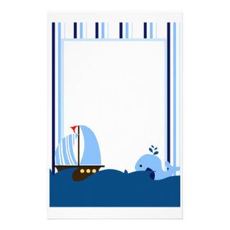 De Kantoorbehoeften van de zeilboot & van de Briefpapier