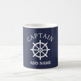 De Kapitein van de boot (personaliseer de Naam van Koffiemok