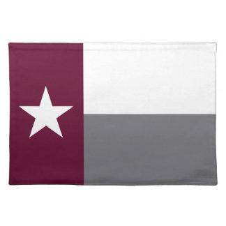 De kastanjebruine Vlag van Texas Onderlegger