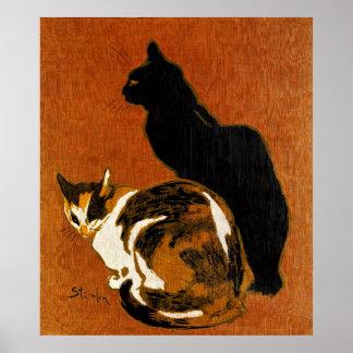 De Katten van Steinlen Poster