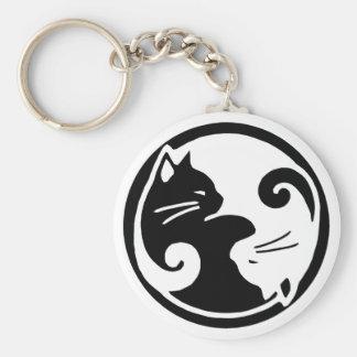 De Katten van Yang van Yin Sleutelhanger