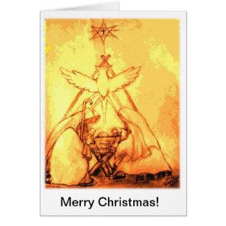De Kerstkaart van de geboorte van Christus Briefkaarten 0