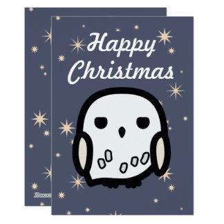 De Kerstkaart van Hedwig Cartoon Character Art Kaart