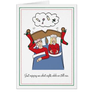 De Kerstkaarten van de zwangerschap - de Stille Briefkaarten 0