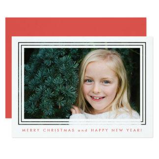 De klassieke Kaart van de Foto van Kerstmis van 12,7x17,8 Uitnodiging Kaart