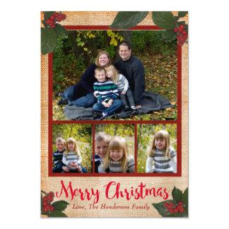 De klassieke Kaart van de Foto van Kerstmis van de 12,7x17,8 Uitnodiging Kaart