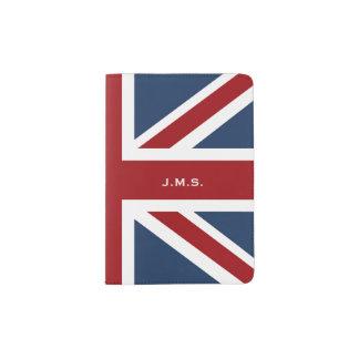 De klassieke Vlag van Union Jack Met monogram Paspoort Houder