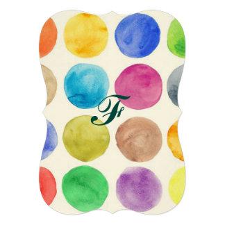De kleur van het water, grote leuke stip, grappig, 12,7x17,8 uitnodiging kaart