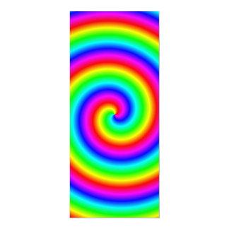 De Kleuren van de regenboog. Heldere en Kleurrijke 10,2x23,5 Uitnodiging Kaart