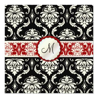 De kleuren van Vendome Damask/DIY van PixDezines! 13,3x13,3 Vierkante Uitnodiging Kaart