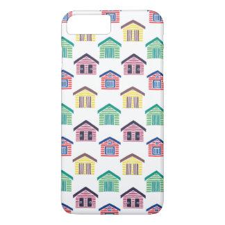 De kleurrijke Huizen van het Strand iPhone 8 Plus / 7 Plus Hoesje