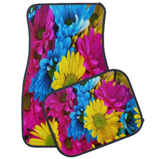 De kleurrijke Kat van Madeliefjes matts Auto Vloermat