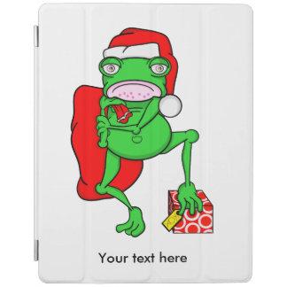 De knorrige Kikker kleedde zich als Kerstman iPad Cover
