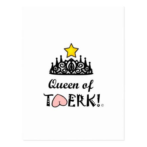De Koningin van de Ster van Twerk Wens Kaarten