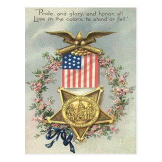 De Kroon van Eagle van de Medaille van de Burgeroo Wens Kaart