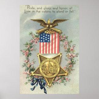 De Kroon van Eagle van de Medaille van de Burgeroo Poster