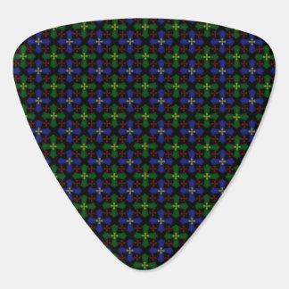 De Kruisen van het geruite Schotse wollen stof Plectrum