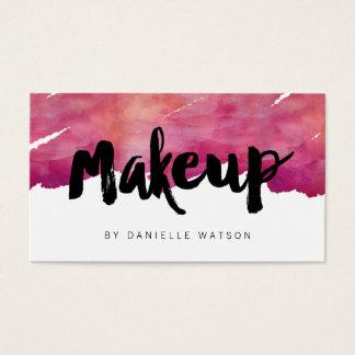 De Kunstenaar van de Make-up van de Kalligrafie Visitekaartjes