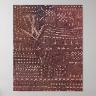 De la façon d'un Tapesty en cuir Paul Klee 1925 Poster
