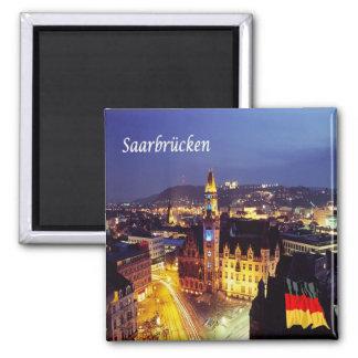 De - L'Allemagne - le Saarbrücken Magnet Carré