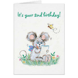 De lapin d'enfants carte d'anniversaire mignonne