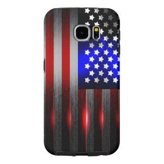 De Laser van de Snijkant sneed Amerikaanse Vlag 1 Samsung Galaxy S6 Hoesje