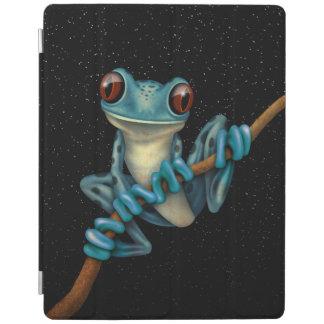 De leuke Blauwe Kikker van de Boom op een Tak met iPad Cover
