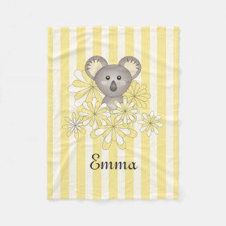 De leuke Dierlijke Naam van de Koala van het Baby Fleece Deken