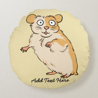 Gepersonaliseerde hamster tekening kussens for Lang rond kussen