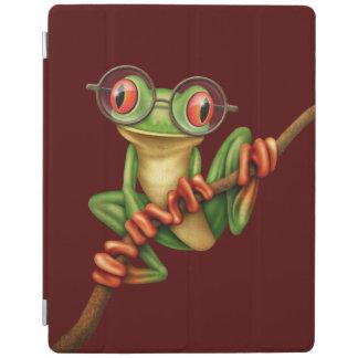 De leuke Groene Kikker van de Boom met de Glazen iPad Cover