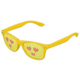 De leuke Liefde Gele Emoji van de Ogen van het Kinder Zonnebril