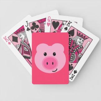 De leuke Roze Speelkaarten van het Varken Poker Kaarten