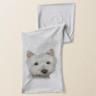 De leuke Sjaal van de Kunst van de Hond Westie Sjaal