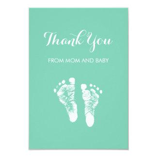 De leuke Voetafdrukken van het Baby van de Kleur 8,9x12,7 Uitnodiging Kaart