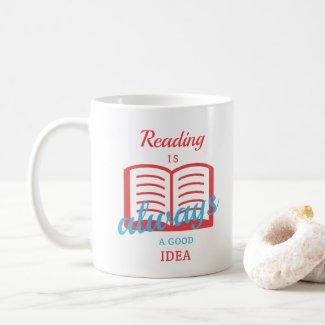 De lezing is altijd een goed idee koffiemok