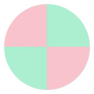 De lichtrose en Lichte Kleuren van de Munt 13,3x13,3 Vierkante Uitnodiging Kaart