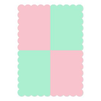De lichtrose en Lichte Kleuren van de Munt 12,7x17,8 Uitnodiging Kaart