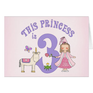 De licorne 3ème anniversaire invitation de