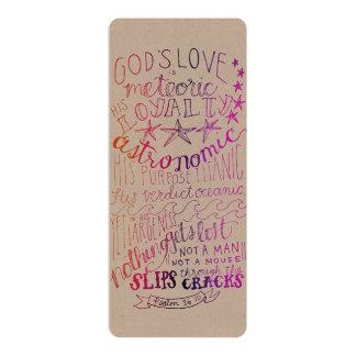 De liefde is de Astronomische Kleur van de Druk 10,2x23,5 Uitnodiging Kaart