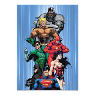 De Liga van de rechtvaardigheid - Groep 3 12,7x17,8 Uitnodiging Kaart