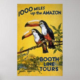 De Lijn van de cabine reist omhoog 1000 Mijlen de Poster