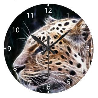 De lijnen van de luipaard, het schilderen van de grote klok