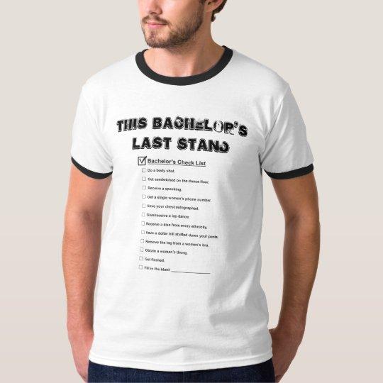 De Lijst van de Controle van de Partij van de T Shirt
